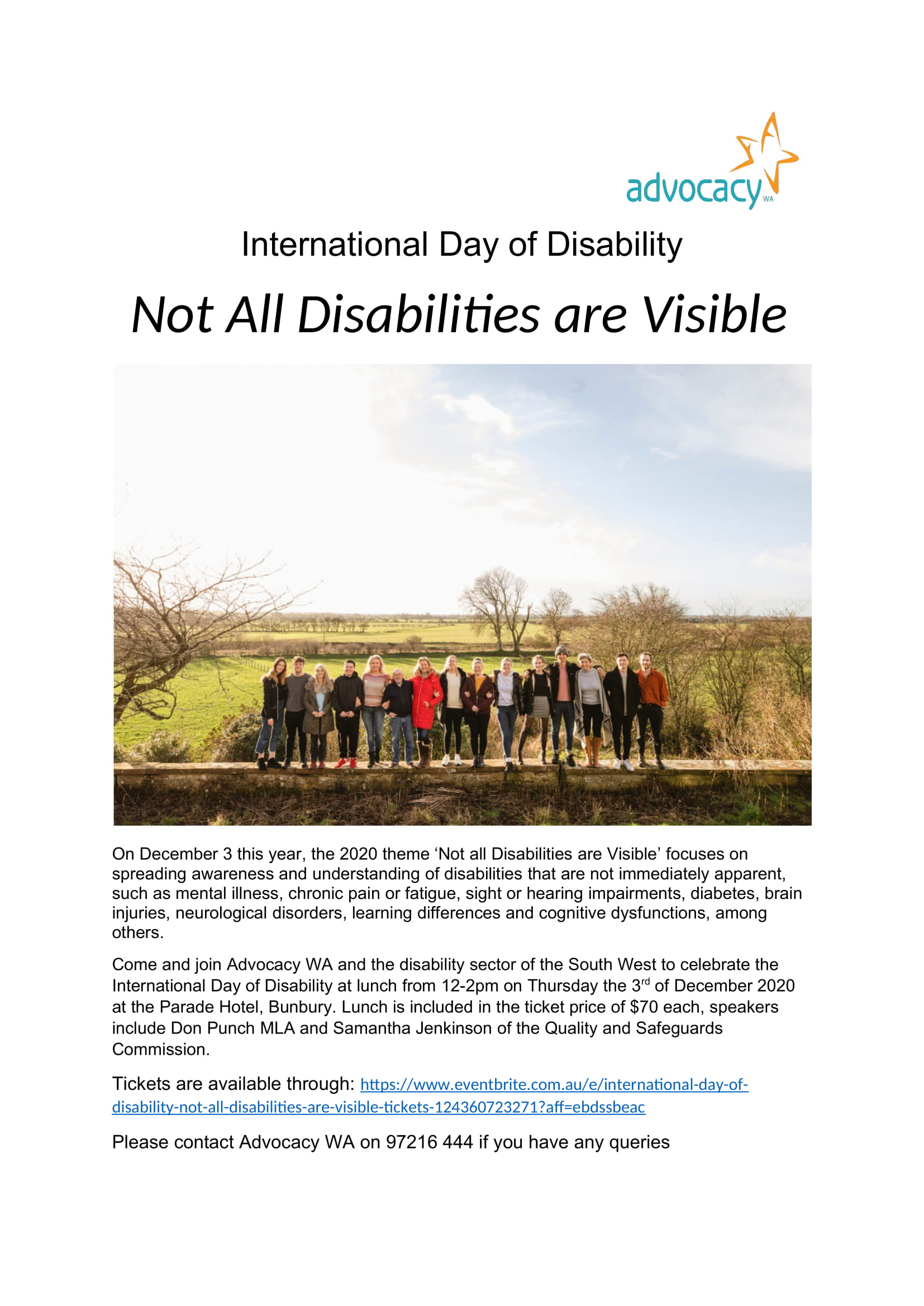 International Day of Disability Lunch Flyer 2020 004 1